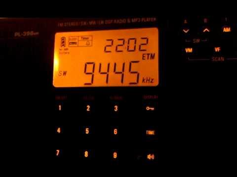 All India Radio - 9445 kHz - Tecsun PL-398mp
