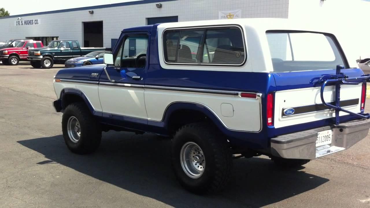 1979 ford bronco 4x4 restored super clean custom paint youtube