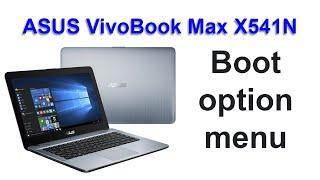 إقلاع لابتوب أسوس الحديث و الدخول إلى البيوس - enter bios asus vivobook max x541n boot menu