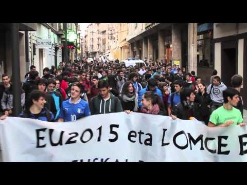 Manifestazioa hezkuntza erreformen kontra