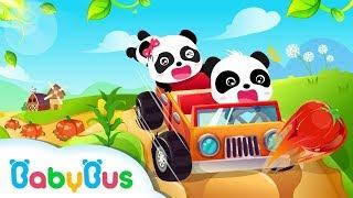Baby Panda Car Racing - Play And Explore - Car Racing Games - BabyBus Kids Games