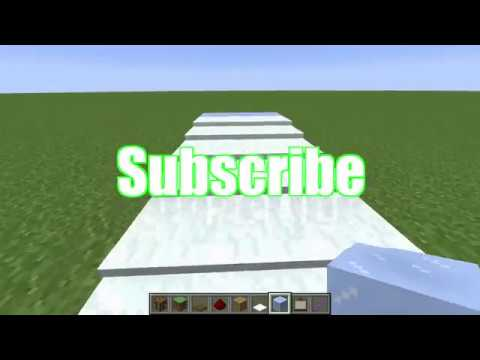 How to build a Snowy Staircase in Minecraft