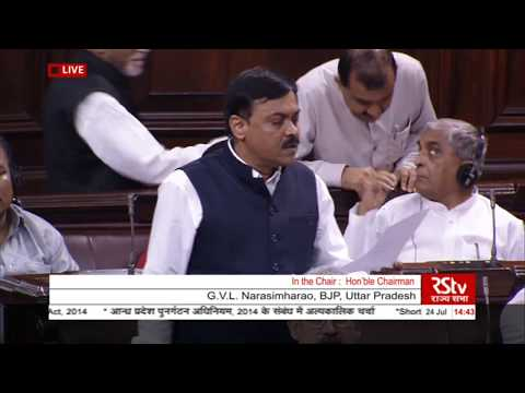 GVL Narasimha Rao's remarks|Short Duration Discussion on Andhra Pradesh Re-Organization Act, 2014