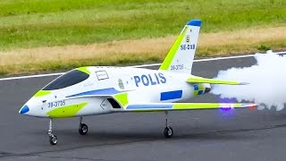 SWEDISH POLIS JET AMAZING RC JET MODEL FUTURA / Jet Power Fair 2016
