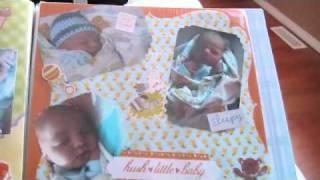 Baby Boy Homemade Scrapbook