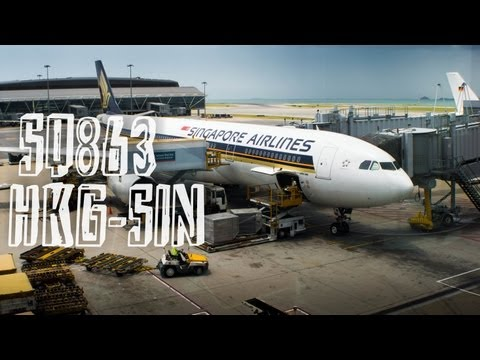 Singapore Airlines SQ863 : Flight from Hong Kong to Singapore