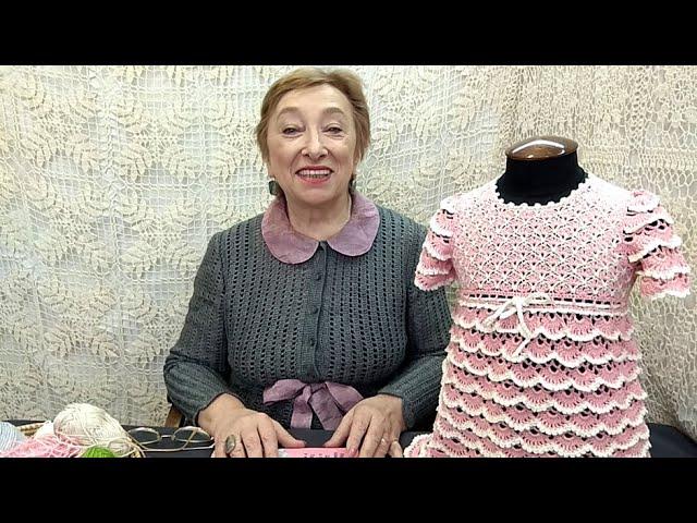 """Вязание крючком для детей от О.С. Литвиной. Платье """"Дюймовочка"""""""