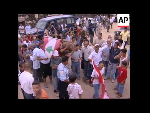 WRAP Govt troops at Nahr el-Bared, Badawi;  celebrations inside camp