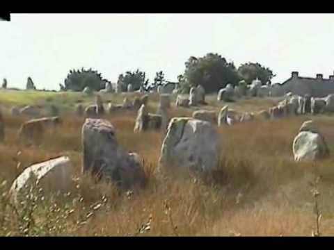 The mysterious Carnac Stones, found in the megalithic sites near Carnac, Brittany, France