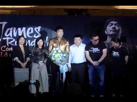 แถลงข่าว James  Ruangsak  Concert  ได้เวลาเจมส์