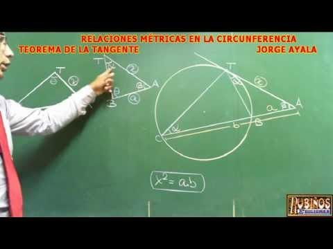 EL TEOREMA DE LA TANGENTE DEMOSTRACION DE RELACIONES METRICAS EN LA CIRCUNFERENCIA