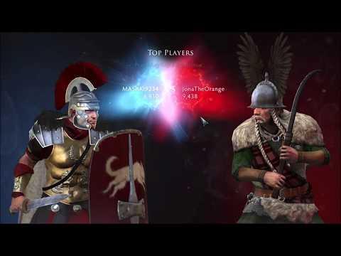 Barbarian Falxman in total war: arena