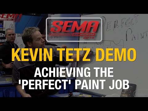 SEMA 2014 - How To Paint A Car Yourself At Home With Kevin Tetz - Eastwood