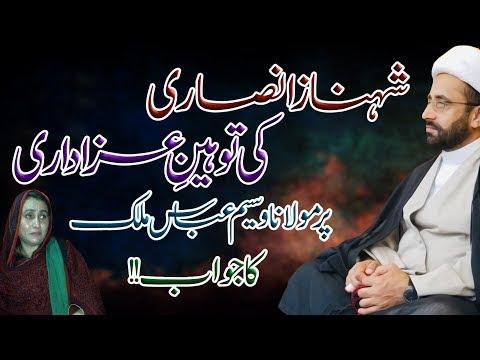 Shehnaz Ansari Ki Tauheen-E-Azadari Par Maulana Waseem Abbas Malik Ka Jawab | 4K