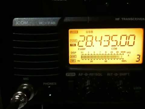 Amateur (Ham) Radio DX Contact with Spain on 10 Meters