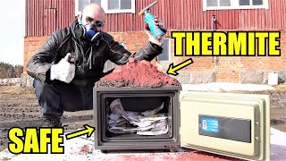 Fireproof Safe Vs. Thermite | Will It Go Through?