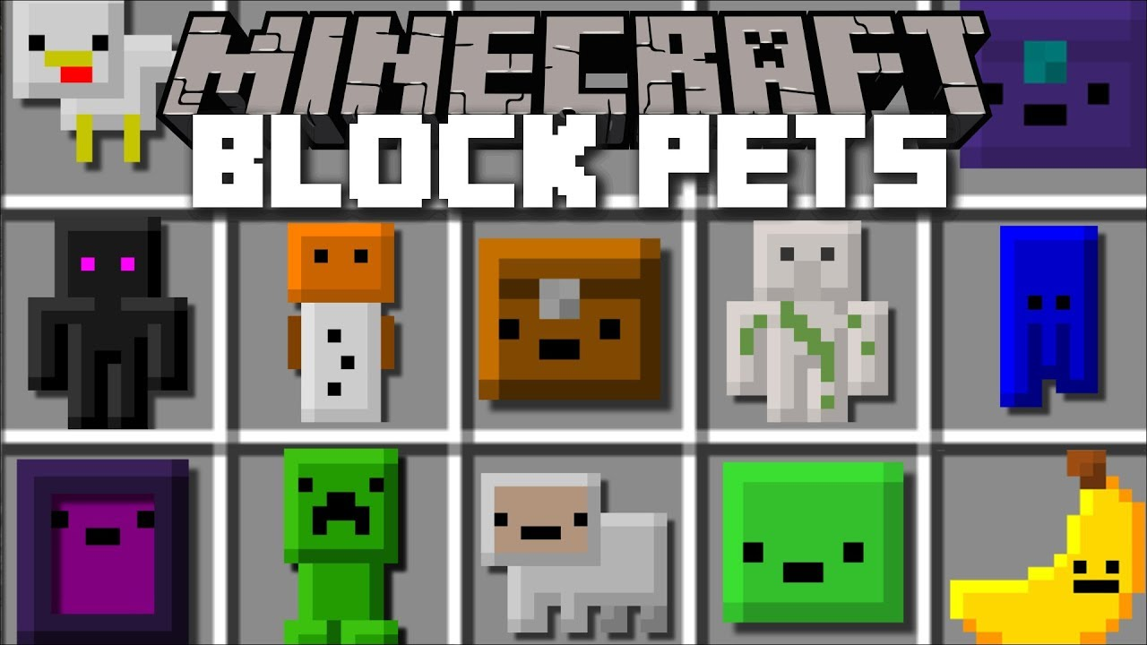 Minecraft BLOCK PETS MOD / FIGHT OFF THE ZOMBIE APOCALYPSE WITH PETS!! Minecraft