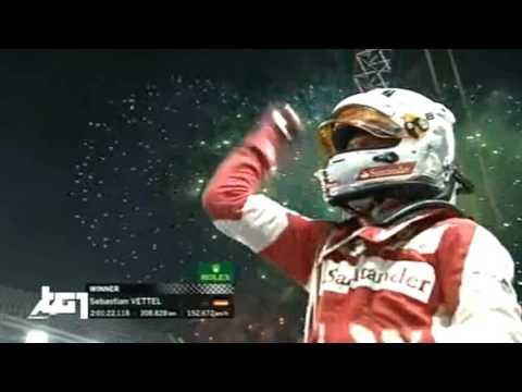 Vettel canterino Team Radio dopo vittoria Singapore 2015