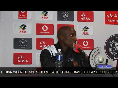 Orlando Pirates midfielder, Musa Nyatama, explains that he is happy to the job for Coach Milutin Sredojevic, and play defensively or more attacking.