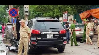 Tai nạn liên hoàn ở cổng BV Bạch Mai, bé 8 tuổi tử vong