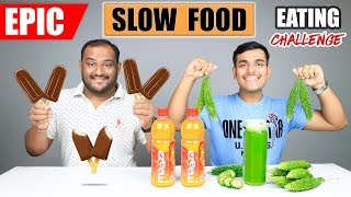EPIC SLOW FOOD EATING CHALLENGE | Choco bar Ice Cream Eating Competition | Food Challenge