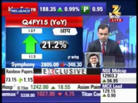 Zee Business Sensex Strategy Helpline Mr Nrupesh Shah ED, Symphony - 22 April 2015