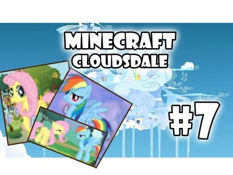 Minecraft: My Little Pony Adventures - Cloudsdale | Part 7 Paintings! video