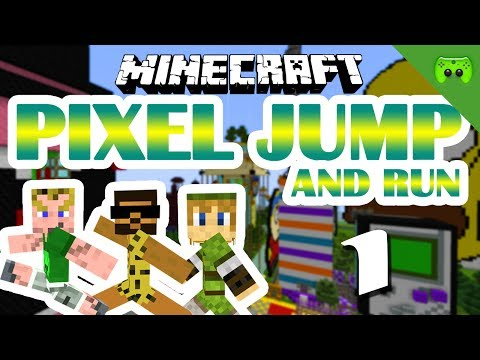 MINECRAFT Adventure Map # 1 - Pixel Jump & Run «» Let's Play Minecraft Together   HD