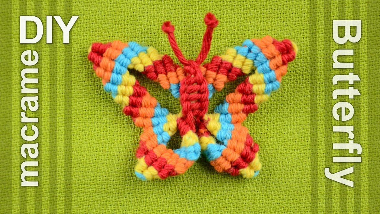 How to macram butterfly papillon farfalla mariposa for Tutorial papillon
