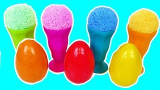 Play Foam Ice Cream Cups Surprise Eggs Cars Minions Surprise Toys
