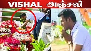 Vishal's tribute to Jayalalithaa!