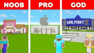 Minecraft Battle: NOOB vs PRO vs GOD: SHOP in MINECRAFT / Animation