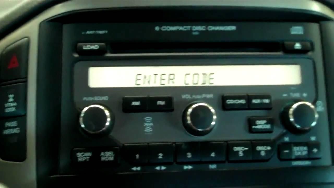 Radio Navicode Honda >> Reprogram radio honda