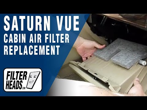 Cabin Air Filter Replacement Saturn Vue Youtube