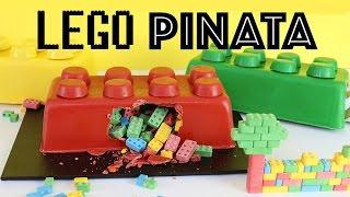 LEGO SMASH CAKE Piñata! No Bake Kids Cake | Elise Strachan | My Cupcake Addiction