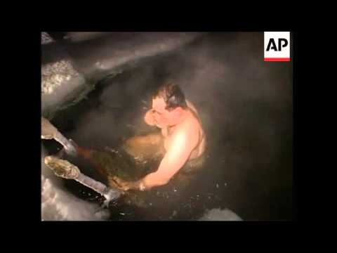 Zhirinovsky braves icy waters for Epiphany