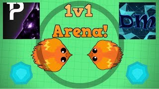 Mope.io 1v1 Arena Vs. pllexx! + Killing a Phoenix With Falcon! (Mope.io Team Mode Gameplay)