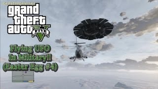 ★GTA 5 - UFO in Military Base!! (EASTER EGG #4/Complete 100%)
