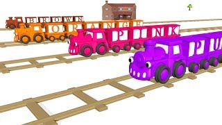 Colors for Children to Learn with Toy Trains learn colors with train | Colors Videos Collection by k