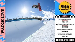 Day 4 Dew Tour Womens Snowboard Modified Superpipe Presented by Toyota Mens Slope Finals