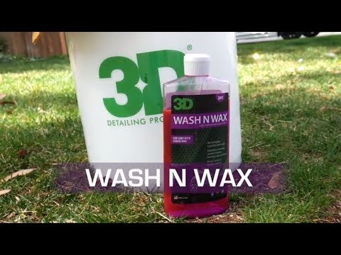 3D Products Car Wash using Wash N Wax by hand at home