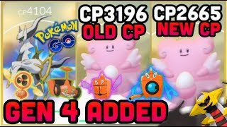 GEN 4 POKEMON & MOVES ADDED TO POKEMON GO | CP REWORK NUMBERS | AR+ FOR ANDROID