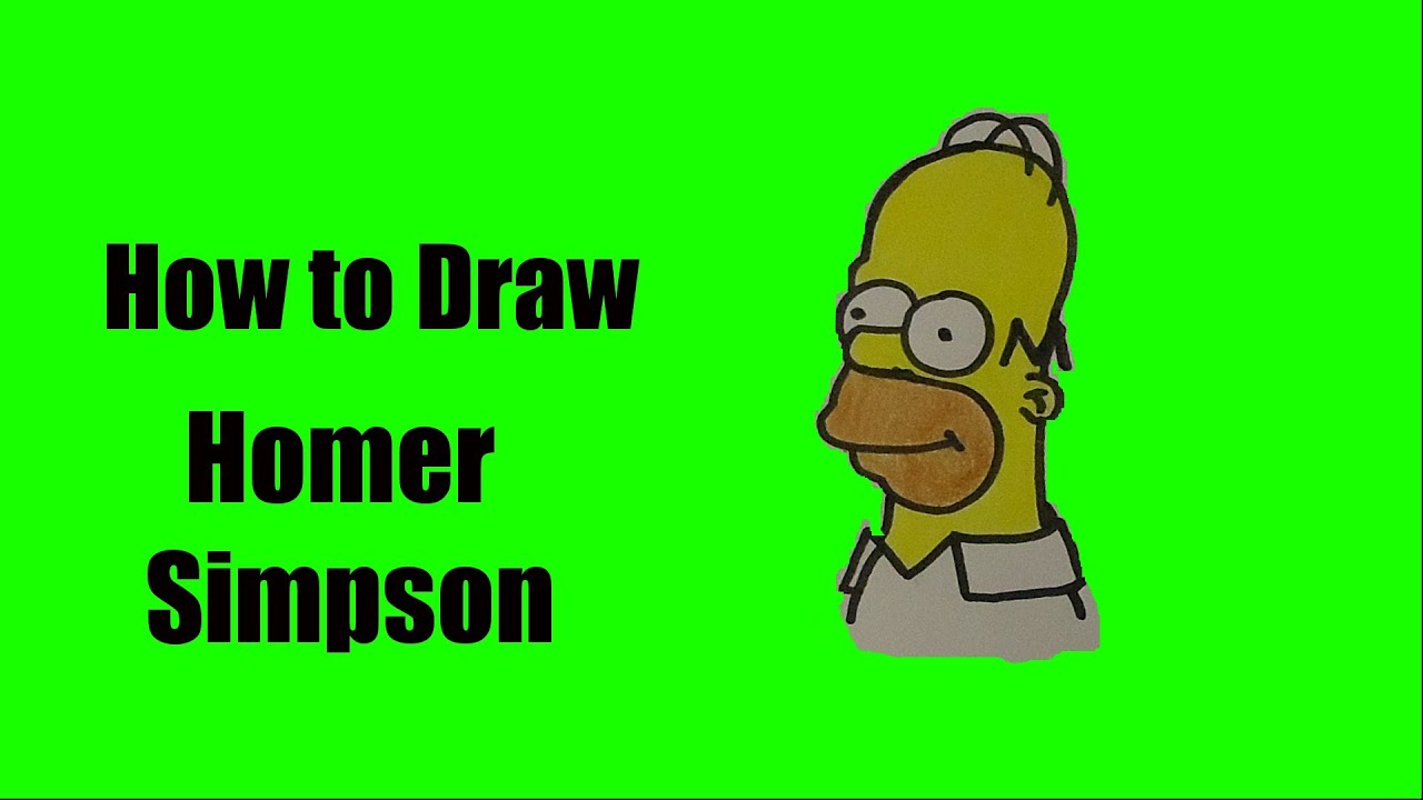 how to draw homer simpson youtube