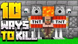 10+ WAYS TO KILL A VILLAGER IN MINECRAFT!