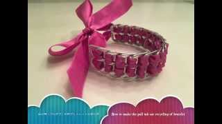 【DIY】簡単リサイクル!缶のプルダブ利用のブレスレットの作り方☆ How to make the pull tab use recycling of bracelet