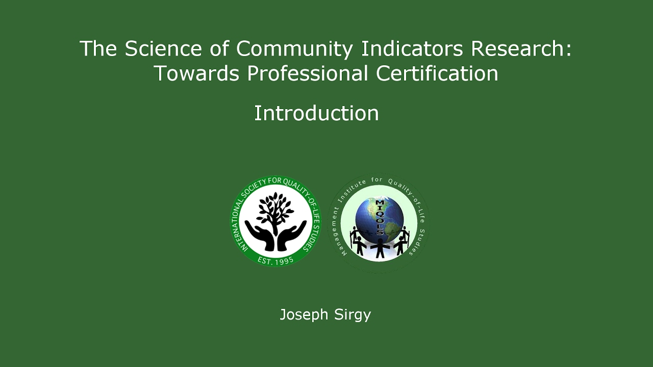 Isqols Certification In Qol Research Related To Community