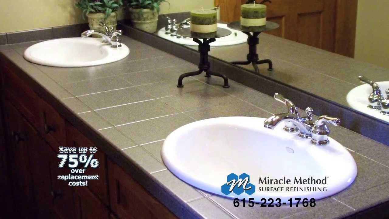 How to refinish bathroom vanity
