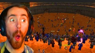 Asmongold 500 Person BRAWL In Gurubashi Arena - Stress Test Servers
