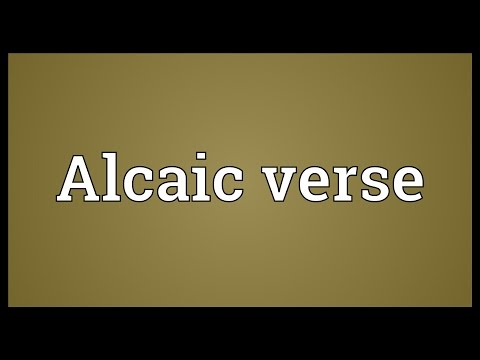 Header of Alcaic verse