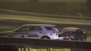 Serious motor vehicle accident involving RCMP Trans Canada Highway Coquitlam City